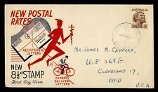 AUSTRALIA FDC 8 1/2C STAMP FOR REGISTERED/SPECIAL DELIVERY CACHET