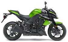 Kawasaki Z1000 Green Motorbike Poster Print A4