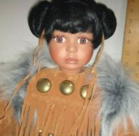 Native American Indian Doll Girl  - Timeless Collection 433/5000 porcelain doll
