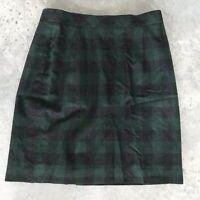 Lodenfrey Wool Gingham Plaid Green Plaid Kneelength Knee Length Skirt Size Large