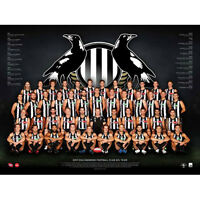 AFL 2017 Team Collingwood Magpies POSTER 60x80cm NEW Aussie Football Players
