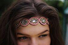 Girls Jewelled, Elastic headbands, hippie, Boho, Festival, gypsy, glastonbury.
