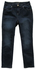 New Womens Marks & Spencer Per Una Blue Slim Leg Jeans Size 12 Short DEFECTS