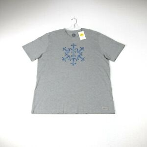 Life is Good Men's Crusher Tee Size XXL Heather Gray Anchor Circle