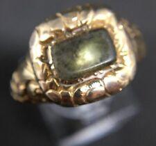 Antique Late Georgian Yellow Gold Ornate Locket Front Dress Ring Memorial