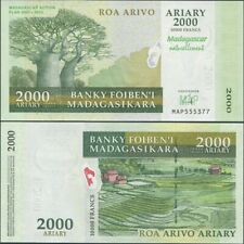 Madagascar 2000 Ariary 2007 UNC, P-93, MAP Action Plan Commemorative