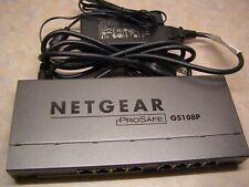 Netgear Prosafe Gs108P 8 Port 10/100/1000 Switch With 4 Port Poe W/ Power Cord