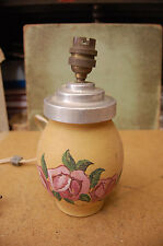 """pied de lampe ceramique decoré  signé """"zizi""""  occasion"""