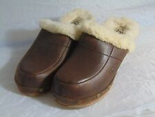 UGG Suede Slip on Clog Wood Women's US Size 3 Brown