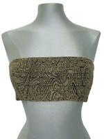 DRIES VAN NOTEN BEIGE BANDEAU TOP, 38, $495