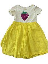 Mini Boden - Girls Jersey Dress - Strawberry and Stripe Pattern - Size 6 / 7