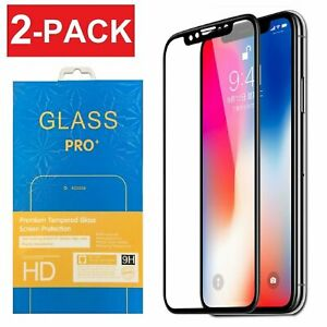 Full Coverage 3D Tempered Glass Screen Protector for iPhone X Xs Max XR 11 Pro
