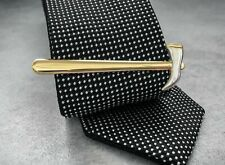925 Two Tone Sterling Silver Hammer Design Men's Stunning Tie Bar