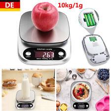Digitale Küchenwaage bis 10KG/1g Electronic Edelstahl LCD Anzeige mit Batterie