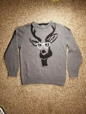 Old Navy Boys Funny Deer with Glasses Christmas Knit Sweater Size Small (6/7)