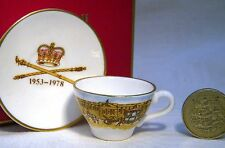 CAVERSWALL  MINIATURE CUP & SAUCER QUEEN 25th ANNIVERSAY OF CORONATION   MIB