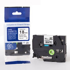 Compatible Brother P-Touch Tz Tze Label Tape Tze241 Ribbon 18mm Black on White