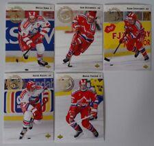 1992-93 Upper Deck UD Russia Team Set of 5 Hockey Cards