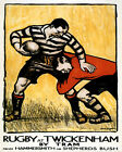 Rugby at Twickenham Game Sport London England 16X20 Vintage Poster Repro FREE SH