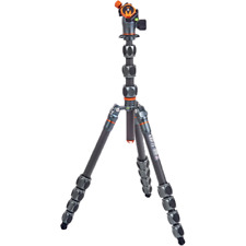 3 Legged Thing Albert 2.0 Carbon Fibre Tripod Kit with AirHed Pro Ball Head Grey