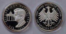 Richard Von Weizsäcker argent 999/1000 PP geb.1920 homme politique allemand