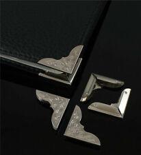 Lot 50 Pcs Folder Albums Metal Scrapbooking Silver File Book Corner Protectors