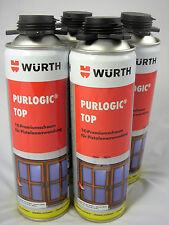 Würth Bauschaum, Purlogic Top, 1K Pistolenschaum, Montageschaum,4 Stück 500ml