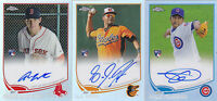2013 Topps Chrome L.J. Hoes /499 Auto Rookie Refractor Orioles