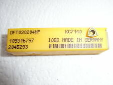 NEU 10 Kennametal DFT030204HP KC7140 Bohrplatte Wendeplatte mit Rechnung