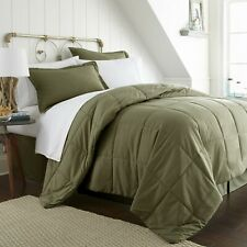 Green 8 Piece  Bed in a Bag Comforter Sheet Set Shams Bedding Microfiber Linens