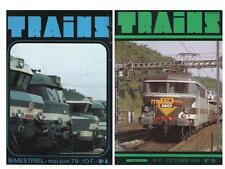 2 Nos Revue Magazine TRAINS No 4 / 1979 & No 15 / 1980 SNCF De Dietrich BB 9527