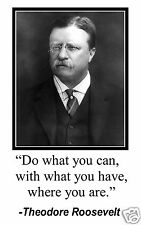 "Theodore Roosevelt "" do what you can"" Quote 11 x 17 Poster Photo #mw2"