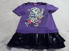 MONSTER HIGH GIRL'S SWTSHRT XL(14/16) PURPLE & BLACK WITH GRAPHICS W/ GLITTER