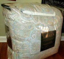 RALPH LAUREN Queen Size Comforter Set 4PCS  $280 SPA BLUE PAISLEY