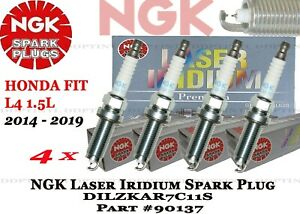 4 x Genuine NGK Laser Iridium Spark Plugs #90137 For Honda Fit 2014-2018 Japan
