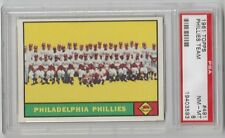 1961 TOPPS #491 PHILADELPHIA PHILLIES TEAM CARD PSA 8 NM - MT !!  SET BREAK !!