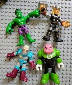 Playskool Imaginext Super Hero Figures Hulk Mr. Freeze Kilowog Thor