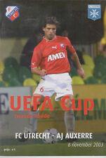 Programme / Programma FC Utrecht v AJ Auxerre 06-11-2003 UEFA Cup