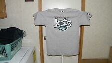 VINTAGE N.Y. JETS STARTER YOUTH SIZE LARGE 14-16 GRAY SHIRT, MADE IN USA, NWT.