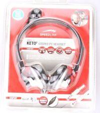 Keto2 Stereo PC Headset Speedlink 2,4m Kopfhörer Head Set Kopf Hörer Speed Link