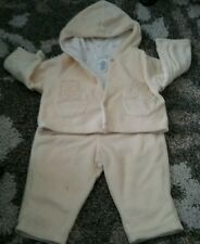 Baby Carters Yellow Duck Fleece  Pants Jacket  3-6 Months Small