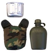 Cantimplora camuflaje Woodland estilo militar - Cazo /gabeta  Aluminio, caza
