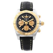 Breitling Chronomat 41 Acero 18K Oro Rosa Reloj con Cuadrante Negro CB014012/BA53-729P