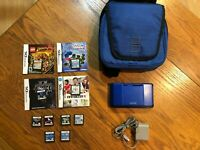 Nintendo DS Original Launch Blue Handheld Console Bundle With 10 Games Tested