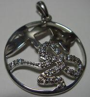 § bijoux  Pendentif ajouré en argent 925 et oxydes de Zircomium libellule etoile