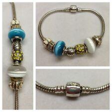 Bracelet à charms 925 Bracelet argent avec amovible membres Bracelet en argent