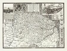 Old Map of NORFOLK 1610 by John Speed - Uncoloured