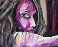Portrait Big Eyes Original Art Painting DAN BYL Modern Contemporary Huge 4x5ft