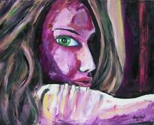 Portrait Big Eyes Original Art Painting DAN BYL Modern Contemporary Huge 4x5ft