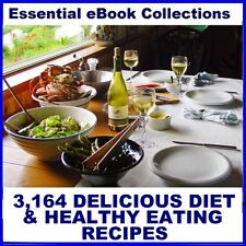 3,164 DIET & HEALTHY EATING RECIPES - eBooks for Kindle, etc on CD